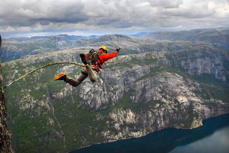 rope jumping Reklamní fotografie
