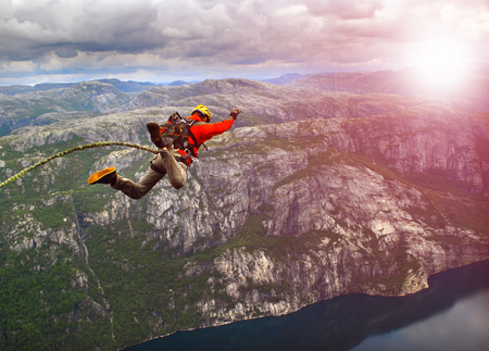 freefall: rope jumping Stock Photo