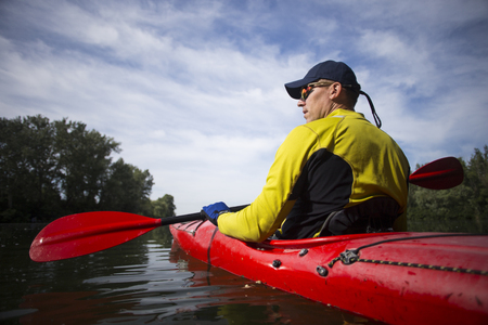 Trips on a kayak on the river.