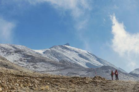 Trekking along the Lycian trail. The amazing nature of Turkey. Surroundings of Takhtali mountain. Stock Photo