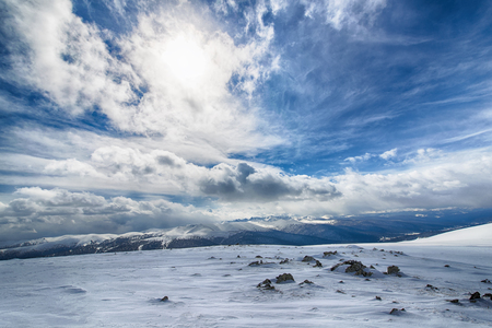 the view from the mountains in the Eastern Sayan mountains national Park Ergaki Stock Photo