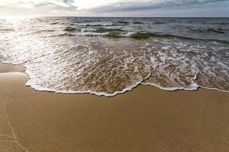 wild sandy beach on the Baltic Berek Bay 版權商用圖片