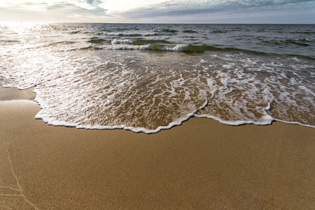 wild sandy beach on the Baltic Berek Bay Stock Photo - 79399000