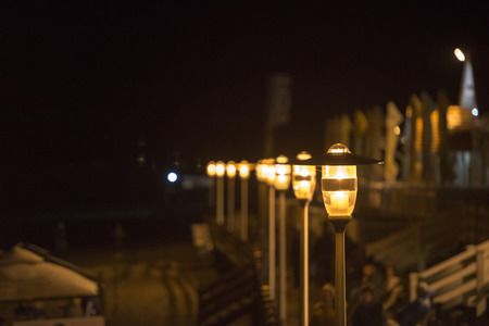 Street light against twilight background Standard-Bild
