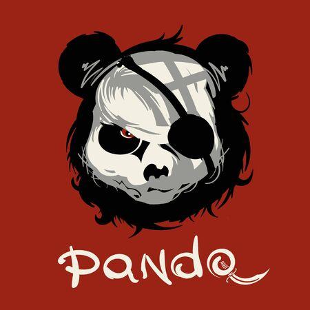 Dibujo vectorial de un Panda para imprimir en plotter de corte.