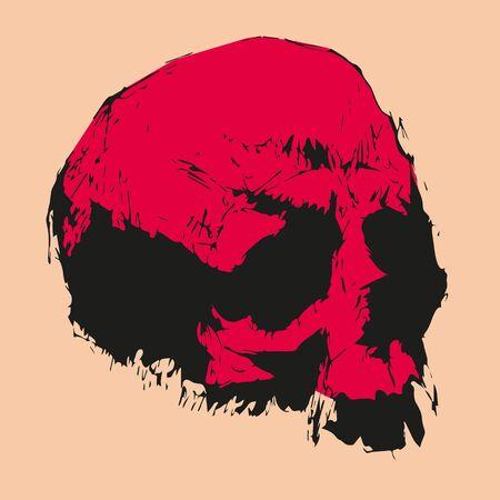 skeleton for tattoo black silhouette night graphics Standard-Bild