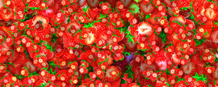 strawberry background a large number of different sizes chaotic location
