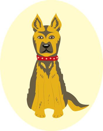 dog, pet, dog collar Иллюстрация
