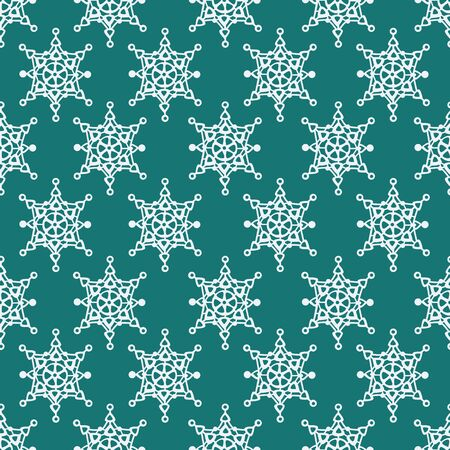 seamless pattern with snowflakes, abstract christmas background, vector illustration