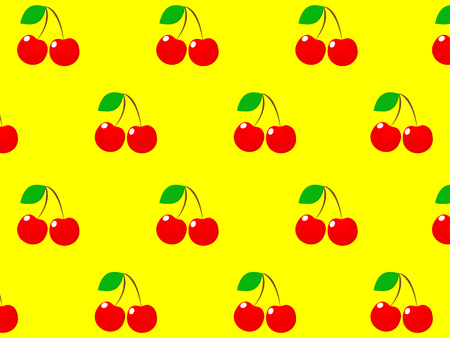 Magnificent design of fresh delicious red cherries