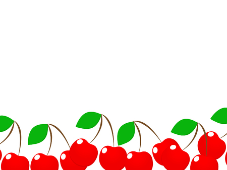 Magnificent design of fresh delicious red cherries.