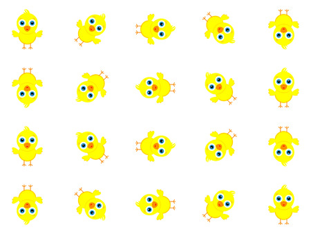Wonderful background design created from many little yellow chicks
