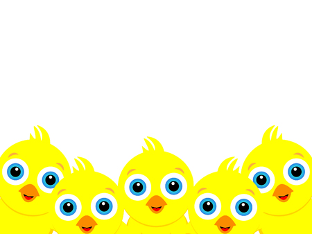 Wonderful background design created from many little yellow chicks.