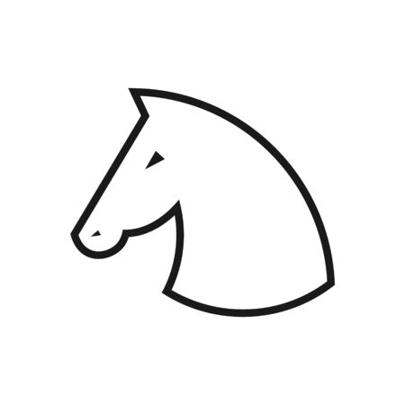 Fast speed horse vector icon illustration isolated