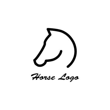 Fast speed horse logo vector icon illustration isolated Zdjęcie Seryjne - 140169561