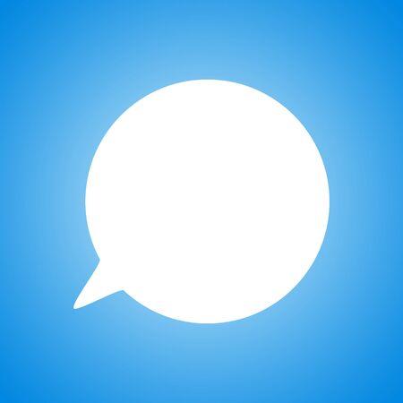 Blank empty speech bubbles vector icon illustration isolated Ilustração
