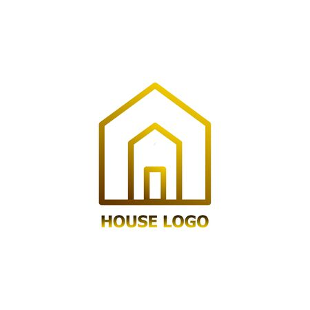 Abstract house logo vector icon isolated on the white background