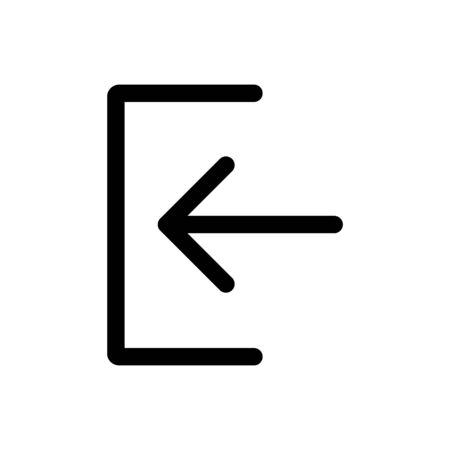 Left flat icon illustration isolated on the white background Ilustração