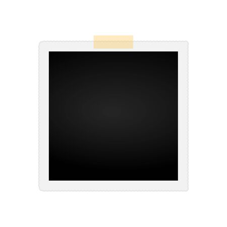 Photo vector icon isolated on the white background