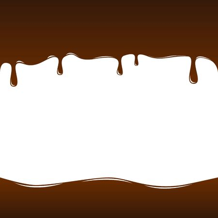 Tasty chocolate brown background. Vector illustration