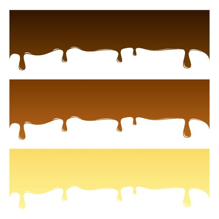 Tasty set chocolate backgrounds. Vector illustration isolated