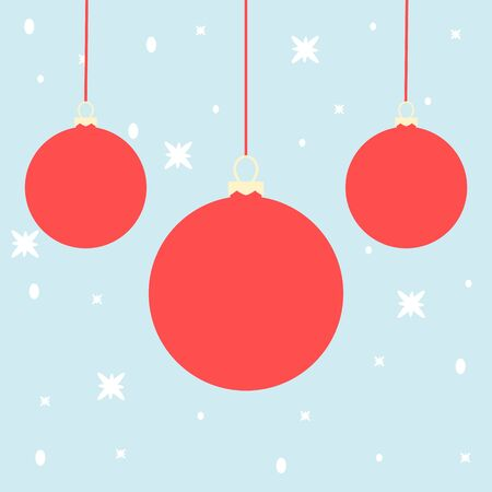 Realistic Christmas set balls vector icons isolated on the white background Иллюстрация