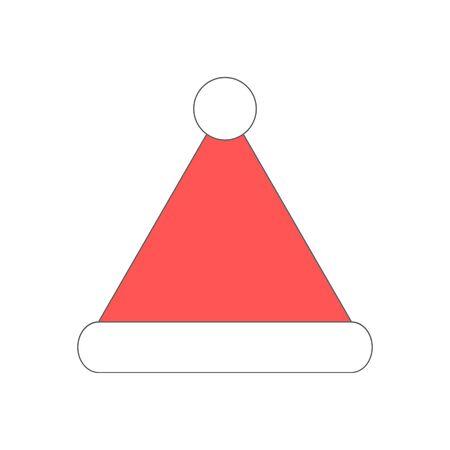Cartoon santa hat vector icon isolated on white background Illusztráció
