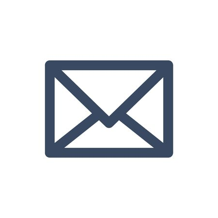 Email icon. Outline envelope sign isolated on the white background