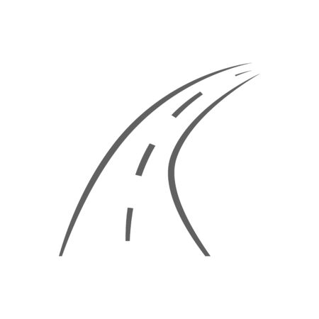 Road icon, vector navigation isolated on the white background
