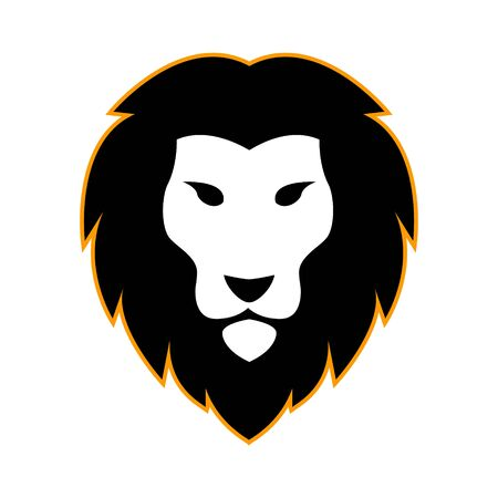 Lion head icon vector illustration isolated on the white background Banque d'images - 140435254