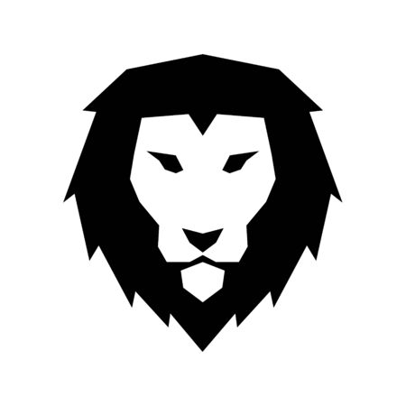 Lion head icon vector illustration isolated on the white background Banque d'images - 140435255