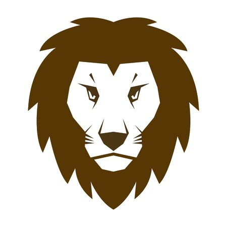 Lion head icon vector illustration isolated on the white background Banque d'images - 140435261