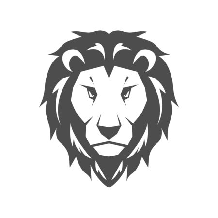 Lion head icon vector illustration isolated on the white background Banque d'images - 140435270