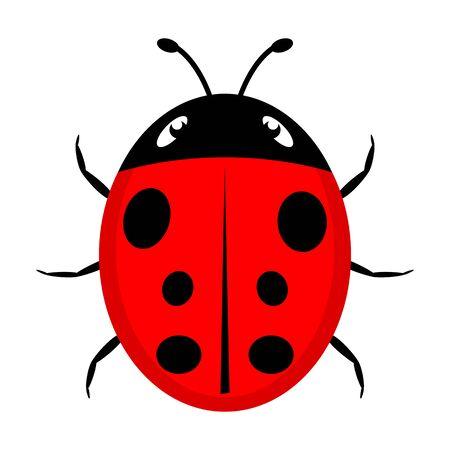 A beautiful simple design of a red ladybird Ilustracje wektorowe