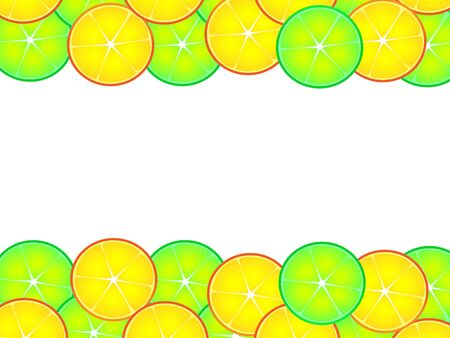 Wonderful design of citrus background created from orange and lime halves