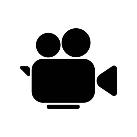 Camera cinema video icon isolated on the white background