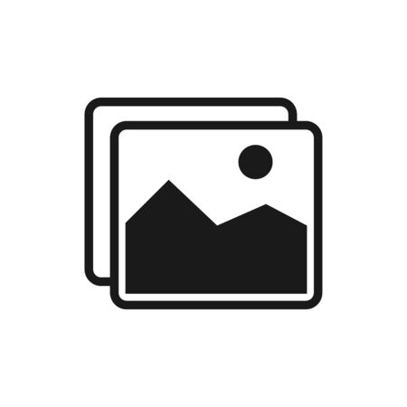 Picture icon isolated on the white background