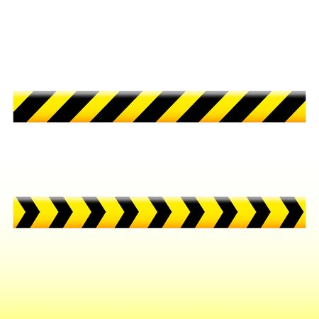Simple design of a yellow ribbon with black stripes