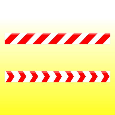 Simple design of a white ribbon with red stripes