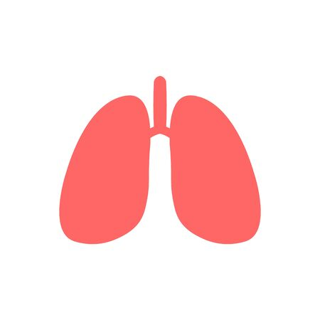 Lungs symbol. Lung cancer (asthma, tuberculosis, pneumonia). World Tuberculosis Day. World Pneumonia Day. Health care Ilustracja