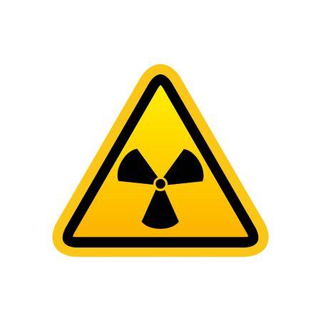 Radiation symbol vector icon isolated on white