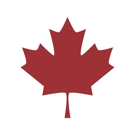 Vector leaf of maple tree isolated on white. Canada vector symbol  template