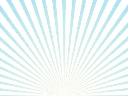 Sunlight rays blue and white color burst background. Sun beam ray sunburst wallpaper. Retro bright backdrop. Vintage poster vector illustration Ilustração