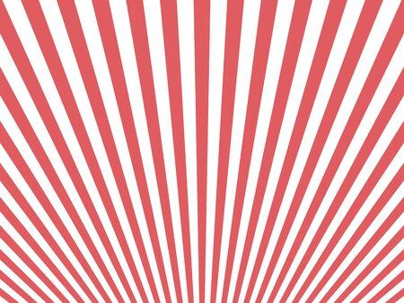 Great circus background concept with red and white circular rays Ilustração