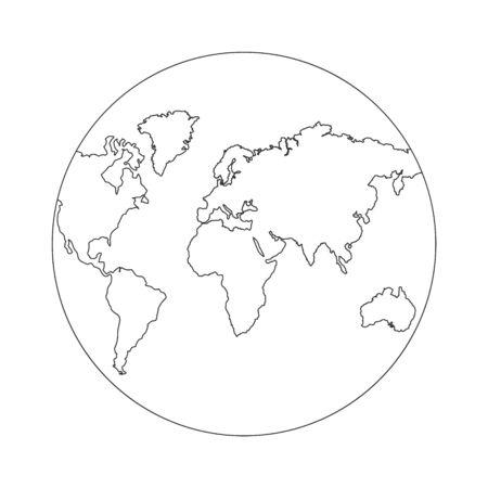 Continuous Earth line drawing stock vector Ilustración de vector