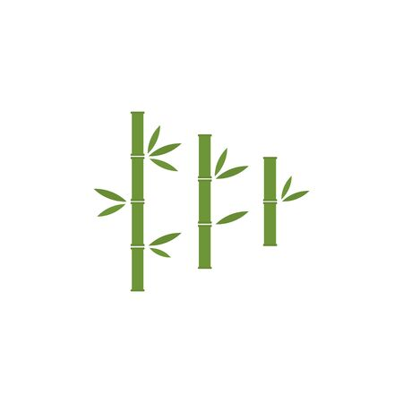 Bamboo brunches vector stock illustration isolated on white