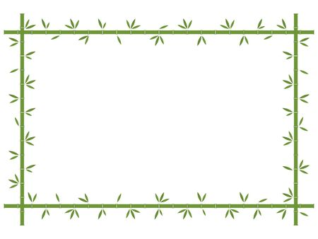 Background with tropical green bamboo vector illustration. Japan, China trees with leaves.