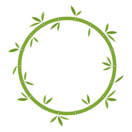 Bamboo green circle vector stock illustration isolated on white background Ilustração
