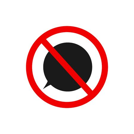 No message vector icon illustration isolated on a white background.