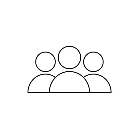 Human icon isolated on the white background. Customer service support. Icon, care, customer, retention, patient, client, help, consumer, audience, service, inclusion. Voluntary, charity, donation. Ilustração